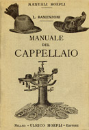 Front page of Manuale del Cappellaio, Milan, Hoepli 1906