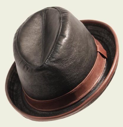 Soft leather hat