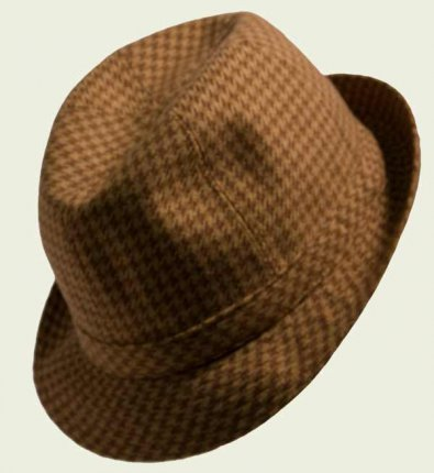 Hound's-tooth Panizza Hat