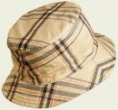 Cappello impermeabile double-face scozzese